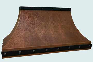 Custom Copper Range Hoods Double Sweep 4339