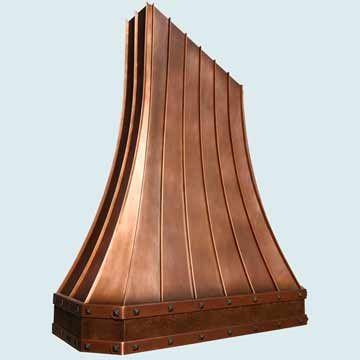 Custom Copper Range Hoods Tall French Sweep 4348