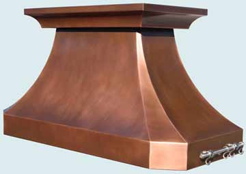 Custom Copper Range Hoods French Country 4356
