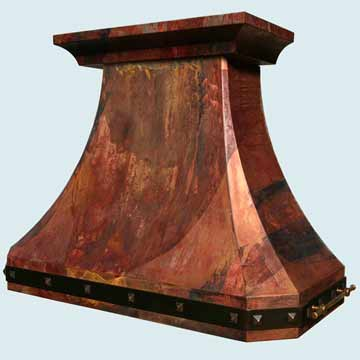 Custom Copper Range Hoods French Country 4357