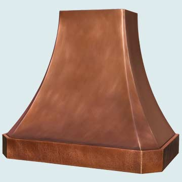 Custom Copper Range Hoods French Sweep 4362