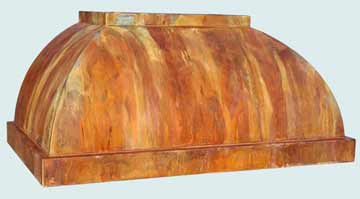 Custom Copper Range Hoods Double Roll 4364
