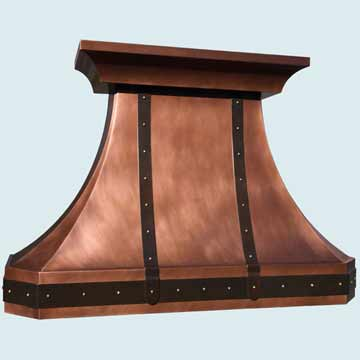 Custom Copper Range Hoods French Country 4375