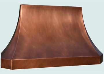 Custom Copper Range Hoods French Sweep 4376