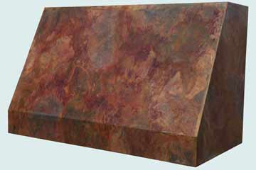 Custom Copper Range Hood #4383 | Handcrafted Metal Inc