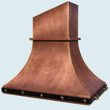 Custom Copper Range Hoods Double Sweep 4385