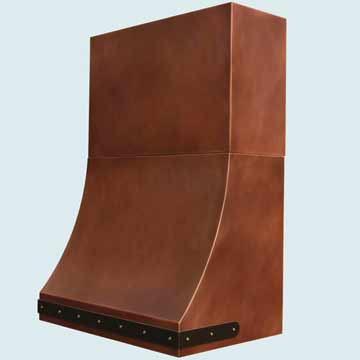 Custom Copper Range Hoods Sweep Front 4393