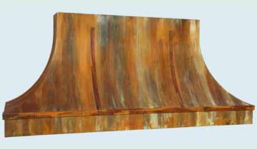 Custom Copper Range Hoods Double Sweep 4397