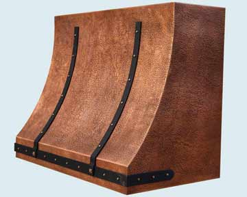 Custom Copper Range Hoods Sweep Front 4403