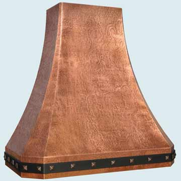 Custom Copper Range Hoods French Sweep 4406