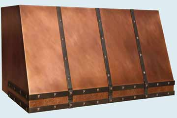 Custom Copper Range Hoods Slope Front 4426