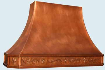 Custom Copper Range Hoods French Sweep 4432