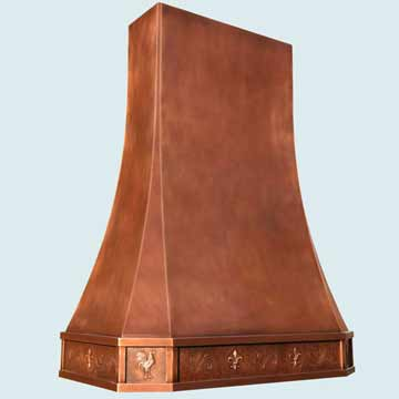 Custom Copper Range Hoods Tall French Sweep 4433