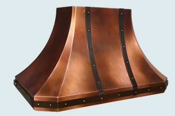 Custom Copper Range Hoods French Sweep 4445