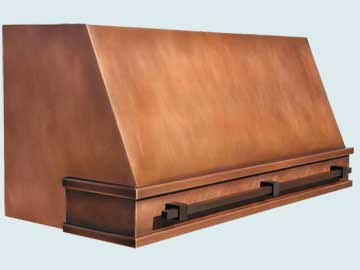 Custom Copper Range Hood #4450 | Handcrafted Metal Inc