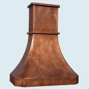 Custom Copper Range Hoods Tall French Sweep 4459