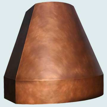 Custom Copper Range Hood #4464 | Handcrafted Metal Inc