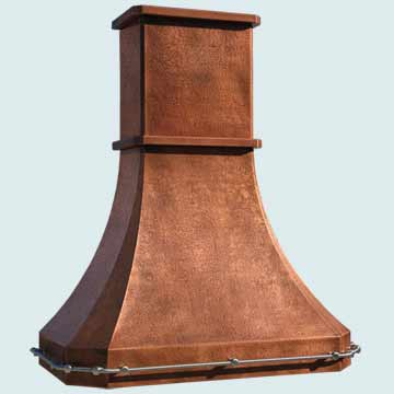 Custom Copper Range Hoods French Sweep 4476