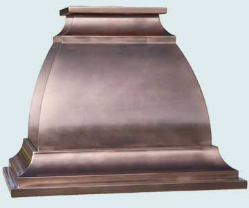 Custom Copper Range Hood #4479 | Handcrafted Metal Inc