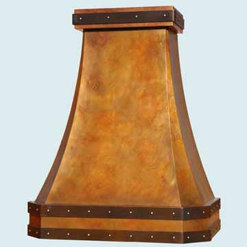 Custom Copper Range Hoods French Country 4485