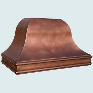 Custom Copper Range Hood #4495 | Handcrafted Metal Inc