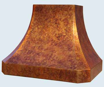 Custom Copper Range Hoods French Sweep 4501