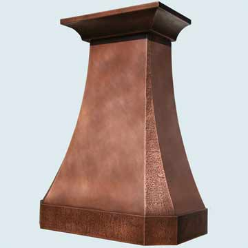 Custom Copper Range Hood #4523 | Handcrafted Metal Inc