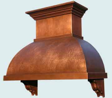 Custom Copper Range Hoods Double Roll 4539