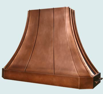Custom Copper Range Hoods French Sweep 4542