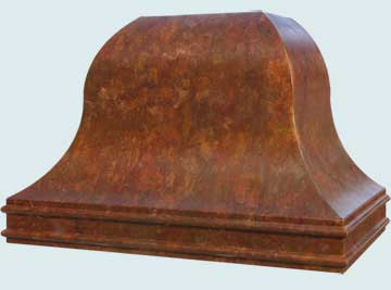 Custom Copper Range Hood #4603 | Handcrafted Metal Inc