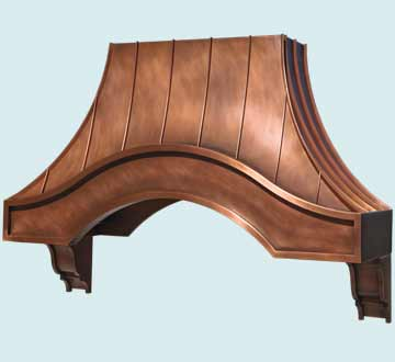 Custom Copper Range Hood #4609 | Handcrafted Metal Inc