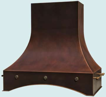 Custom Copper Range Hoods Double Sweep 4643