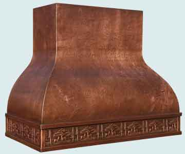 Custom Copper Range Hoods Double Roll 4647