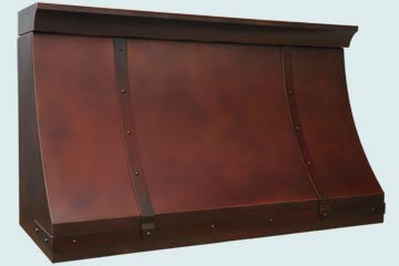 Custom Copper Range Hoods Sweep Front 4654