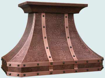 Custom Copper Range Hoods French Country 4655