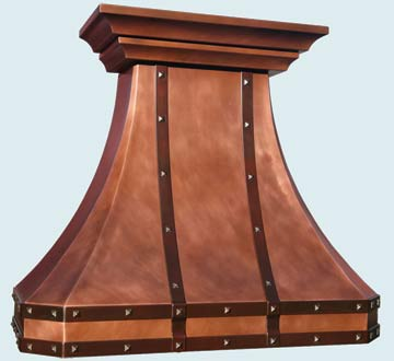 Custom Copper Range Hoods French Country 4669
