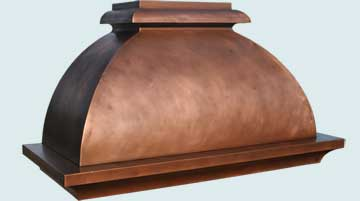 Custom Copper Range Hoods French Bell 4679