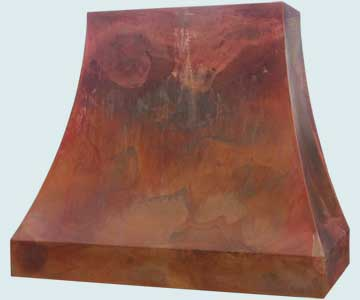 Custom Copper Range Hood #4716 | Handcrafted Metal Inc