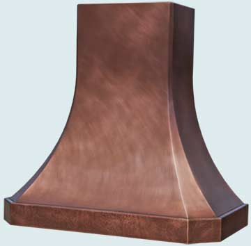 Custom Copper Range Hoods French Sweep 4734