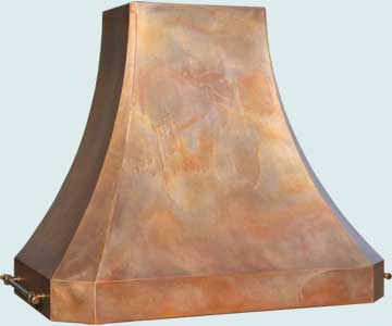 Custom Copper Range Hoods French Sweep 4745