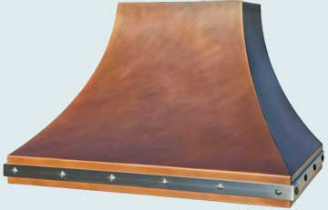Custom Copper Range Hoods Double Sweep 4767
