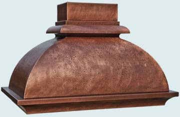 Custom Copper Range Hoods French Bell 4768