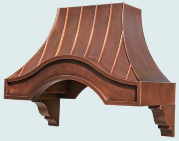 Custom Copper Range Hoods Eyebrow 4770