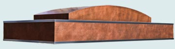 Custom Copper Range Hoods Ultra Low Profile 4819