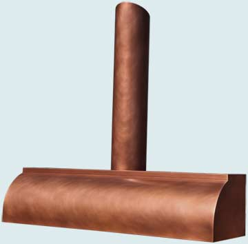 Custom Copper Range Hoods Single Roll 4825
