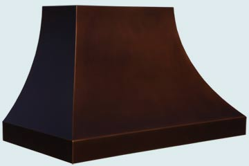 Custom Copper Range Hoods Double Sweep 4834