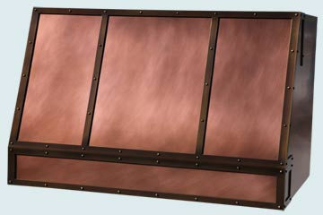 Custom Copper Range Hoods Slope Front 4841
