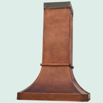 Custom Copper Range Hoods Tall French Sweep 4846