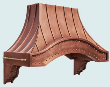 Custom Copper Range Hood #4879 | Handcrafted Metal Inc