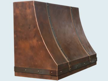 Custom Copper Range Hoods Sweep Front 4903